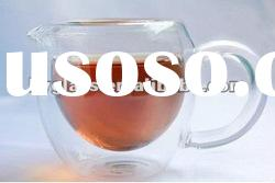 borosilicate heat-resistant double wall glass cup handle