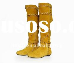 comfortable strappy knee high women boots