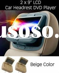 headrest DVD Players with Game USB and FM 9 inch