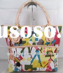 hot sell lady bag with colorful printing