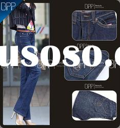 lady blue cotton and spandex jeans pants