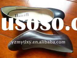 2011 lady high heel leather casual shoes
