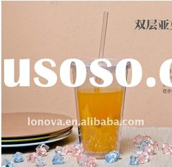 2011 new design products plastic cup with straw