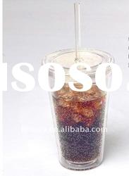 2011 new design products plastic drinking cup with straw