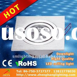 2011 new style indoor high power 3W led ceiling panel light, Factory wholesale !