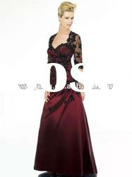 2012 Elegant &beautiful jacket with beaded Mother of the bride short Dresses/Gown
