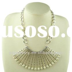 2012 White Stone Alloy Plated Handmade Necklaces,High End Fashion Jewellery