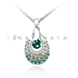 2012 fashion crystal zinc alloy necklaces jewelry