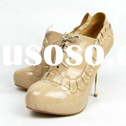 2012 nude color laceup high heel lady shoes DR09 paypal