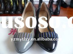 9889-5 Ladies leather high-heels fashion shoes