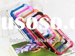 Aluminum bumper for iphone 4/4s Vapor comp hard case cover with back cover