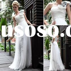 Charming Lady One Shoulder A-Line Fashion Bridal Maxi Dress For Lady From DORISQUEEN(DORIS)