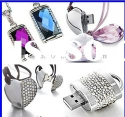Customise Logo luxury material USB flash drive with necklace function 3.0