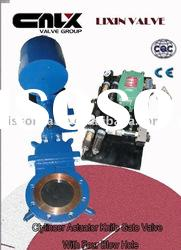 Cylinder Actuator Knife Gate Valve With Four Blow Holes