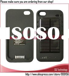 External Solar Battery Charger Case for iPhone 4S 4G 2400mAh
