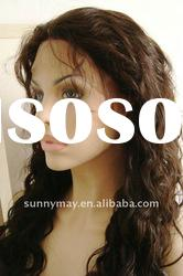 Fashion Curly Natural Color Indian Remy Hair Wigs