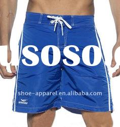 Fashion apparel printed mens check shorts