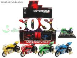 HJ11F Hot sell Die-cast Metal Motorcycle(Plastic base,with Music,12Pcs/Box,Battery Included)