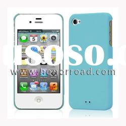 High Quality Light Blue PC Matte Hard Case for iPhone 4G/4S