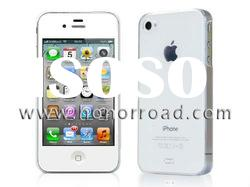 High Quality Pure White PC Matte Hard Case for iPhone 4G/4S