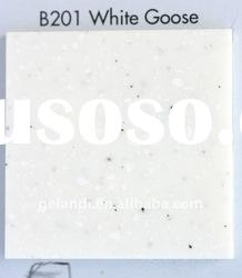High temperature proof and impact resistant artificial marble for kitchen tops