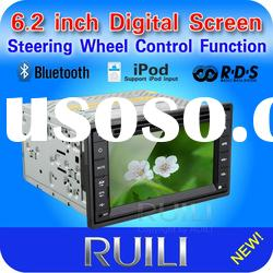 Hot sell 2 Din 6.2 inch Car DVD Player with RDS/iPod