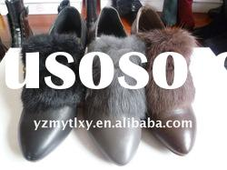 Ladies fashion leather high heel shoes