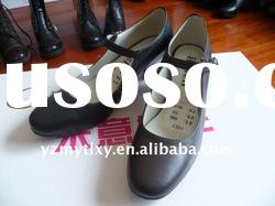 Ladies leather high heel casual women's formal shoes 2011 high quality