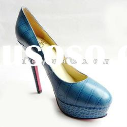 Latest fashion high heels.women pump shoes with red sole