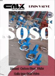Manual Carbon Steel Wafer Knife type Gate Valve