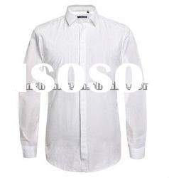 New man black and white cotton pure lubricious long sleeve shirt