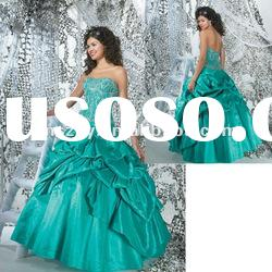 Off Shoulder Top Silver Crystal Beaded Pick up skirt Quinceanera Dress Prom Dresses ! PD4323
