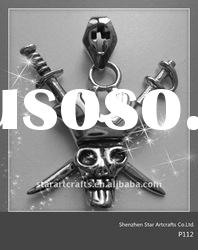 P112 skull high end fashion 316 stainless steel pendant