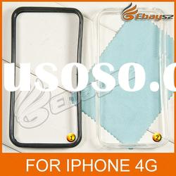 PY- Hot Selling TPU Transparent Black Case Cover For iPhone 4G LF-0363
