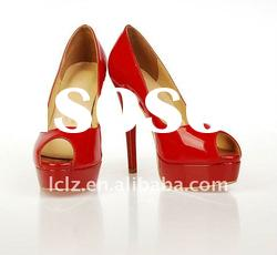 Red bridal wedding high heel shoes clf044 paypal accept