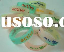 best promotion gift clear rubber silicone bracelets