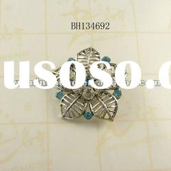 fashion jewelry antique silver zinc alloy rhinestone brooches wholesale