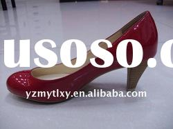 fashion ladies leather low heels shoes dress shoes