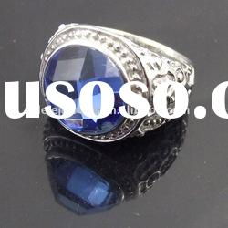 fashion stainless steel blue crystal ring polpular with girls