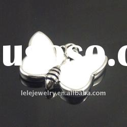 fashion white stainless steel butterfly pendant jewelry popular in Europe and America