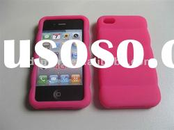 hot pink 3D DESIGN silicone gel rubber skin cover case for APPLE iPHONE 4G 4S 4GS