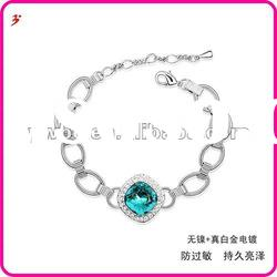 hot sale alloy silver crystal women bracelets jewelry(B101179)