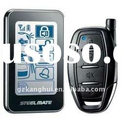 two way car alarm 8209-R with touch screen transmitter