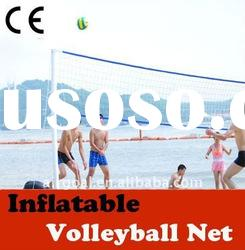 volleyball ball (inflatable & portable volleyball net post)