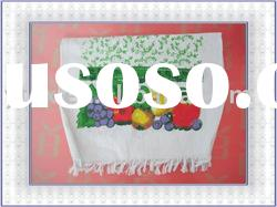 100% cotton pigment/color dyed printed kitchen towel
