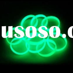 2011 glowing custom silicone rubber bracelet, silicone bracelets, silicone rubber wristband