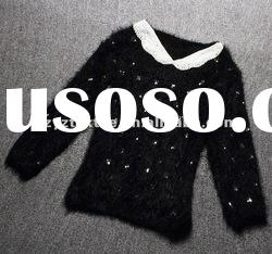 2012Autumn and Winter new style long sleeve round neck women lady fashion poncho sweater dress
