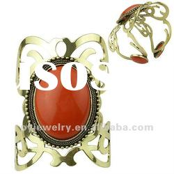2012 Fashion Trend Big Resin Bracelet, Red Stone Bangle
