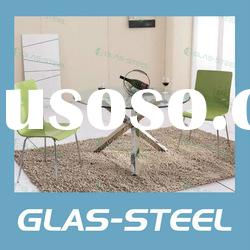 2012 Hot Stainless Steel Furniture - Round Glass Dining Room Table WC-BT243