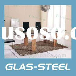 2012 Modern Home Furniture Glass Dining Table Sets Made of Glass Top WC-BT503
